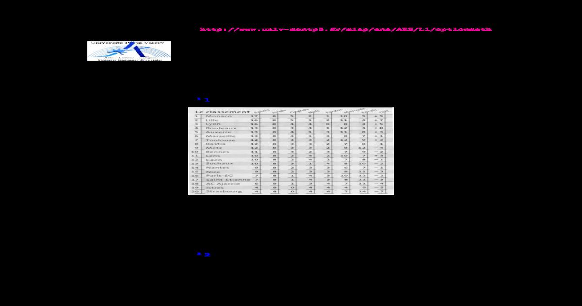 Fiche d'exercices : statistique descriptive 4 .Fiche d ...